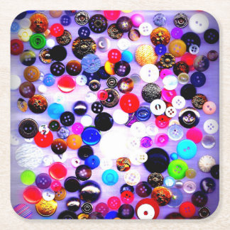 Button Collection Paper Coaster | Sewer Gift