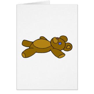 Button Eye Bear Card