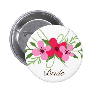 Button - Floral Bride