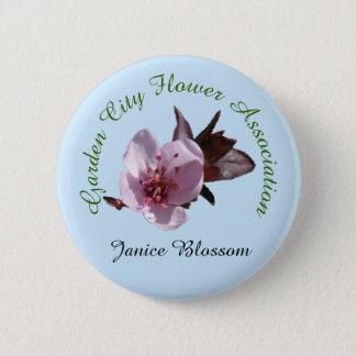 Button - Flower club Name Badge