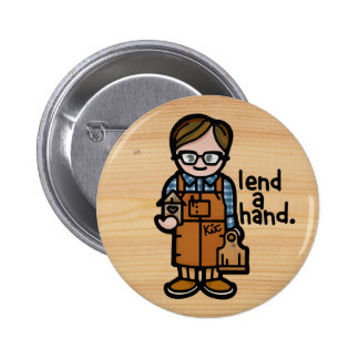 button for the work bib.