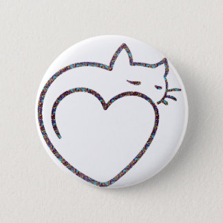 "Button ""Heart Cat """