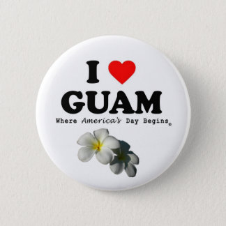 """Button """"I LOVE GUAM """""""