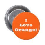 Button I Love Orange