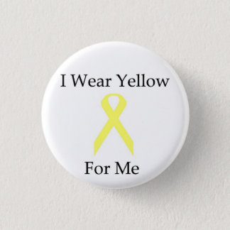 Button--I Wear Yellow For Me 1 Inch Round Button