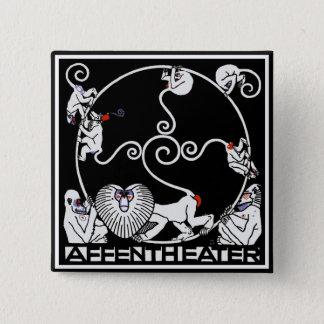 Button: Jugendstil - Affentheater 2 Inch Square Button