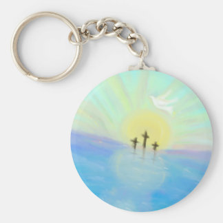 Button Keychain with original hand drawn picture