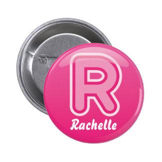Button Letter R Pink Bubble