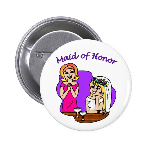 Button: Maid of Honor I