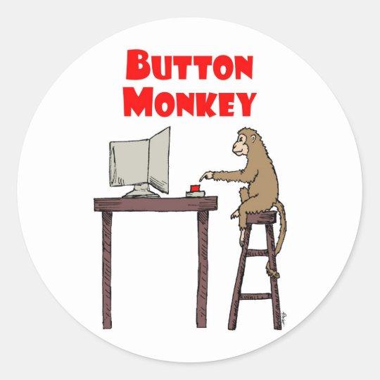 """""""Button Monkey"""" Sticker"""