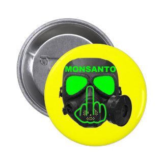 Button Monsanto Gas Mask Flip 2 Inch Round Button