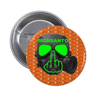 Button Monsanto Gas Mask Flip
