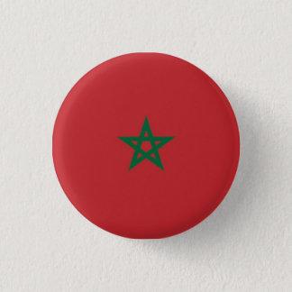 Button Moroccan flag.