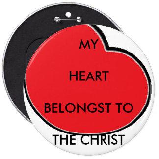 BUTTON - MY HEART BELONGST TO THE CHRIST