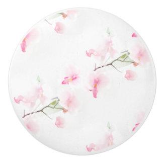 Button of ceramics door Pattern Orchis Ceramic Knob