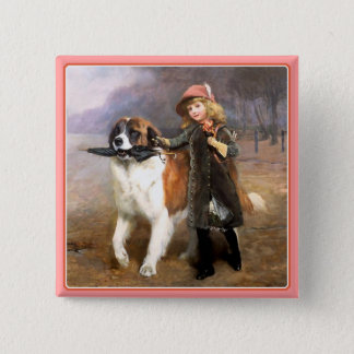 Button: Off to School 2 Inch Square Button