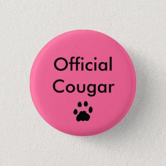 BUTTON pawprint, Official Cougar