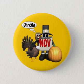 Button - Thanksgiving Turkey