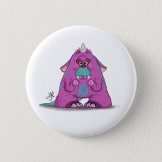 """Button with """"A"""" Monster Character"""