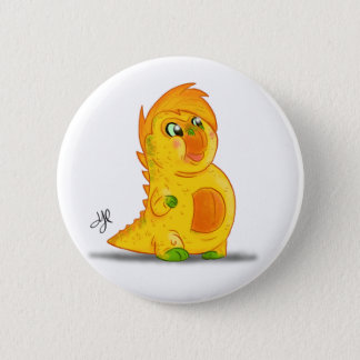 """Button with """"B"""" Monster Character"""
