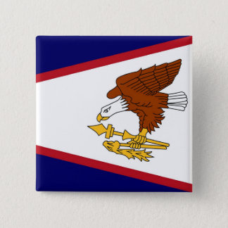 Button with Flag of American Samoa