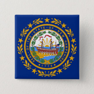 Button with Flag of  New Hampshire