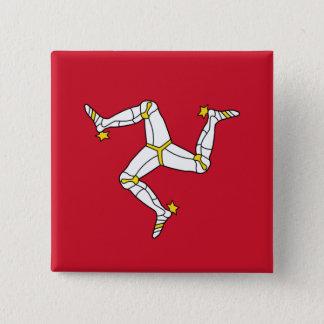 Button with Isle of Man Flag, United Kingdom