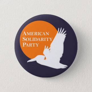 Button with Orange & White ASP Logo on Blue