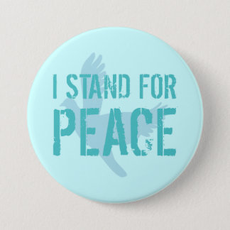 Button with Peace Message