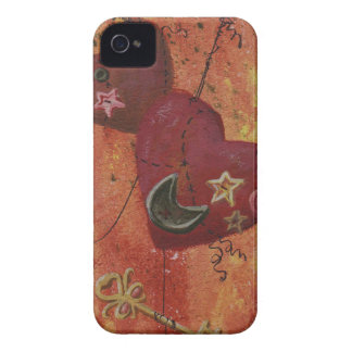 Buttoned Hearts and Skeleton Key iPhone 4 Case-Mate Cases