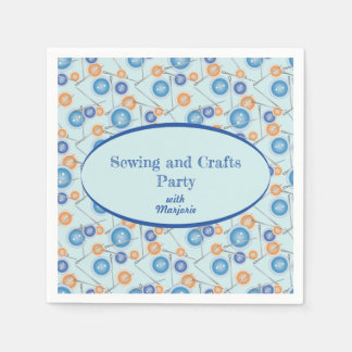 Buttons and Needles Custom Sewing Crafts Party Napkin