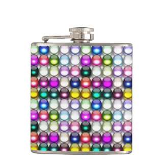 Buttons Galore 1 Wrapped Flask