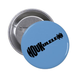 Buttons - Houkulele Logo - Blue Round