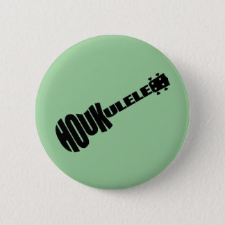 Buttons - Houkulele Logo - Green Round