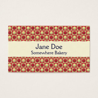Buttons in Squares Red Business Card