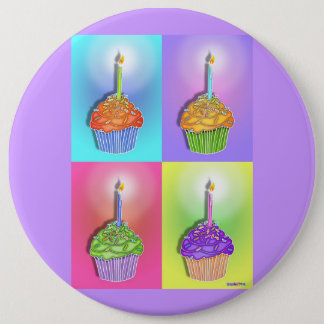 Buttons, Pins - Birthday Cupcakes