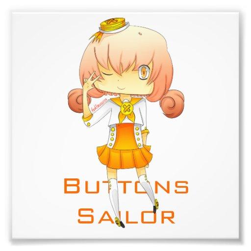 Buttons Sailor Print Photographic Print