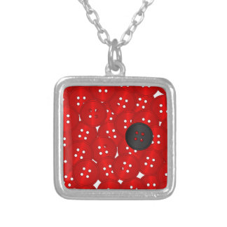 Buttons Silver Plated Necklace