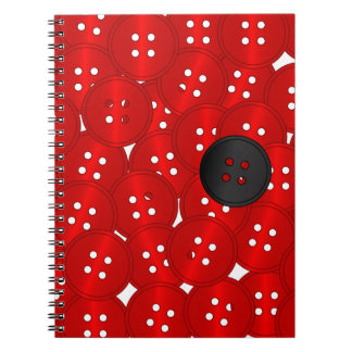 Buttons Spiral Note Books