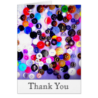 Buttons Thank You Card | Sewing | Sewer Gift | Sew