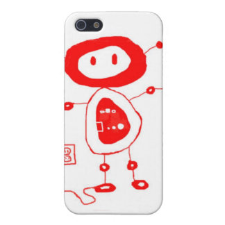 Buttons the robot cover for iPhone 5/5S