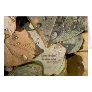 BUUF Gardens: Autumn Leaves Greeting Card