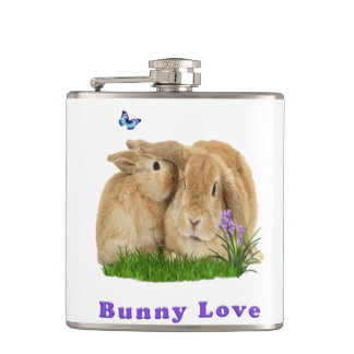 buuny love hip flask