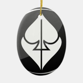 Bűvész Színház Logo Ceramic Oval Ornament