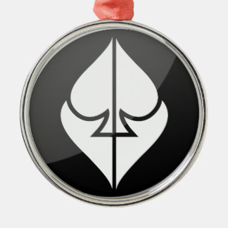 Bűvész Színház Logo Silver-Colored Round Ornament