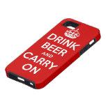 Buvez de la bière et continuez coques iPhone 5