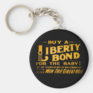 Buy A Liberty Bond for the Baby World War I Basic Round Button Keychain