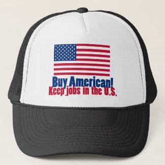 Buy American Keep Jobs in U.S. Trucker Hat