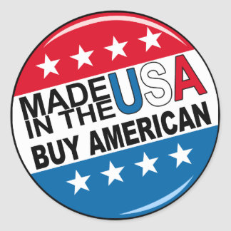 Buy American - Made in the USA Classic Round Sticker