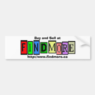 Buy and Sell at FindMore.ca Bumper Sticker